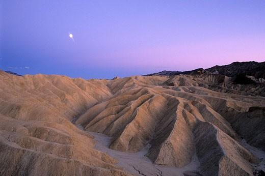 Stock Photo: 1792-69256 United States, California, Death valley, Zabriskie Point Badlands