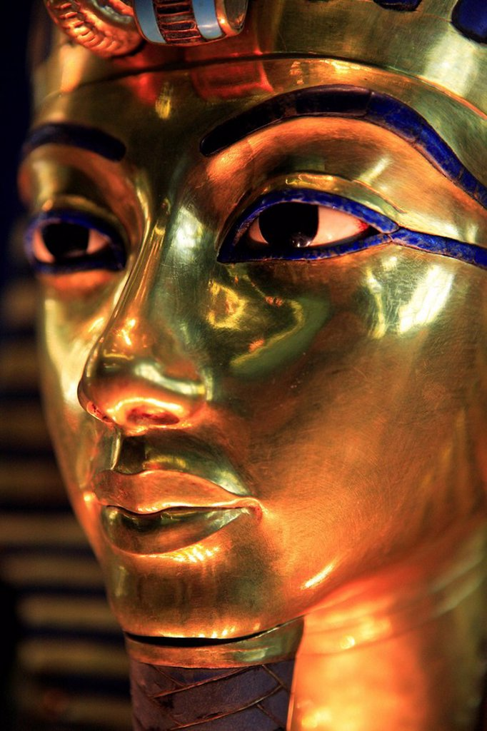 Stock Photo: 1792-69760 Egypt, Cairo, downtown, Egyptian museum, Tuthankhamon funeral mask