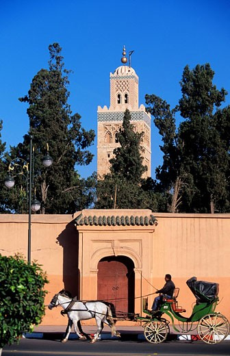Stock Photo: 1792-71241 Morocco, Marrakesh, Koutoubia Mosque