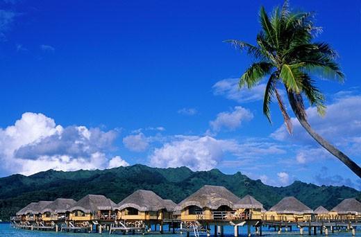 France, French Polynesia, Society archipelago, Leeward islands, Tahaa island, Le Tahaa hotel : Stock Photo