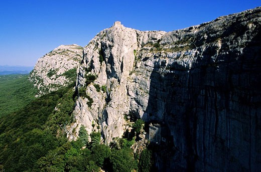 Stock Photo: 1792-72683 France, Var, Sainte Baume massif, Saint Pilon, Madeleine cave, aerial view