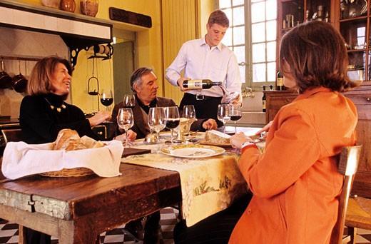 France, Gironde, Martillac, Smith Haut Lafitte, Cathiard private home : Stock Photo