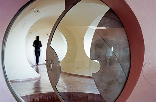 France, Alpes Maritimes, Théoule, Palais Bulles by architect Antti Lovag, Pierre Cardin´s residence : Stock Photo