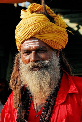 India, Karnataka, Bijapur, sadhu : Stock Photo
