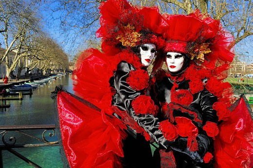 Stock Photo: 1792-74202 France, Haute Savoie, Annecy, venetian carnival of Annecy 2007