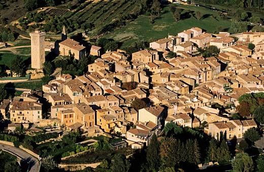 Stock Photo: 1792-74270 France, Alpes de Haute Provence, Verdon Regional Natural Park, Saint Martin de Bromes aerial view