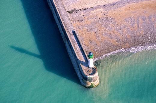 France, Seine Maritime, Saint Valery en Caux aerial view : Stock Photo