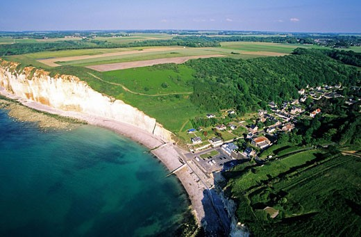Stock Photo: 1792-75089 France, Seine Maritime, Pays de Caux, Cote d´Albatre, between Fecamp and Saint Valery en Caux, les Grandes Dalles aerial view