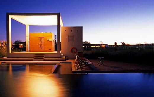 Stock Photo: 1792-76321 Chile, Atacama Desert, San Pedro de Atacama, Explora Hotel, contemporary swimming_pool
