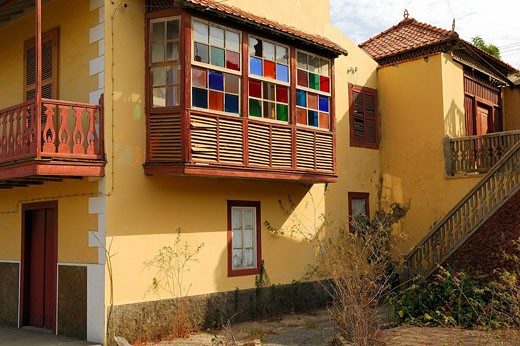 Cape Verde, Fogo Island, Sao Filipe town with Sobrado architecture : Stock Photo