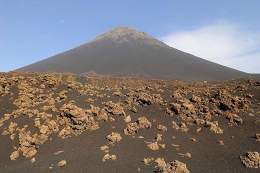 Stock Photo: 1792-77154 Cape Verde, Fogo Island, Pico Volcano 9 281,50 ft