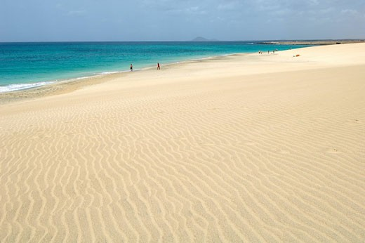 Cape Verde, Sal Island, Santa Maria Beach : Stock Photo