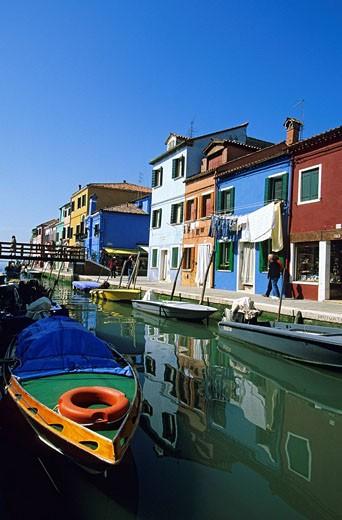 Italy, Veneto, Venetian Lagoon, Burano Island : Stock Photo