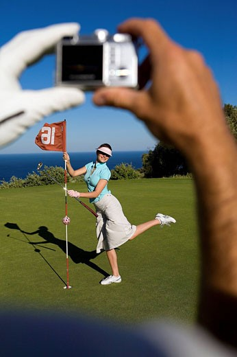 Stock Photo: 1792-77952 France, Var, Sainte Maxime Golf course above Saint Tropez Bay