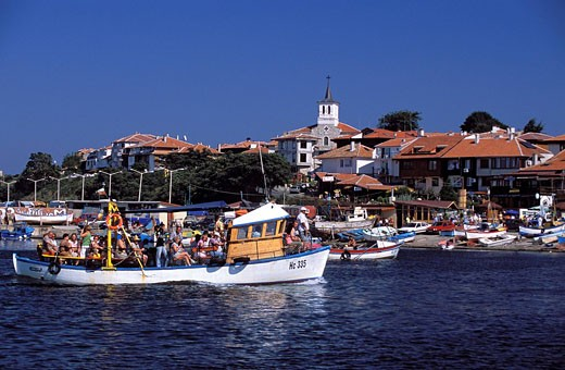 Bulgaria, Black Sea, Nessebar, harbour : Stock Photo