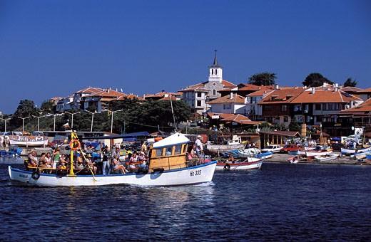 Stock Photo: 1792-77995 Bulgaria, Black Sea, Nessebar, harbour
