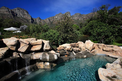 Stock Photo: 1792-78366 South Africa, Cape Peninsula, Camps Bay, 5 star Twelve Apostles Hotel and Spa