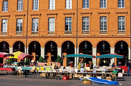 France, Haute Garonne, Toulouse, Place du Capitole : Stock Photo