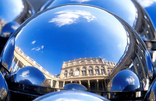 France, Paris, Palais Royal, sculpture by Paul Bury : Stock Photo