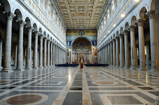 Italy, Lazio, Rome, Basilica of Saint Paul Outside the Walls : Stock Photo