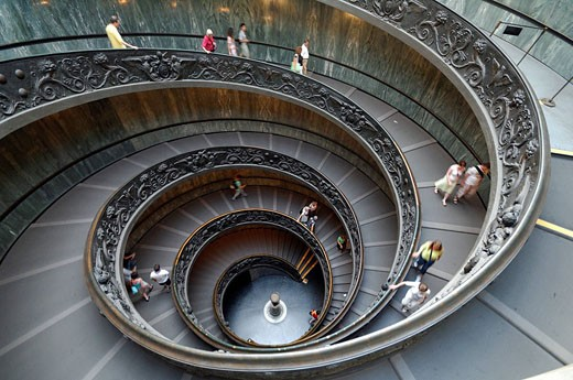 Stock Photo: 1792-79395 Italy, Lazio, Rome, helical stairway of the Vatican Museum