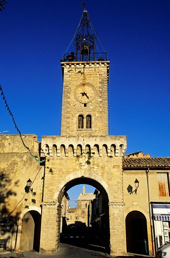 France, Vaucluse, Le Thor, Belfry door : Stock Photo