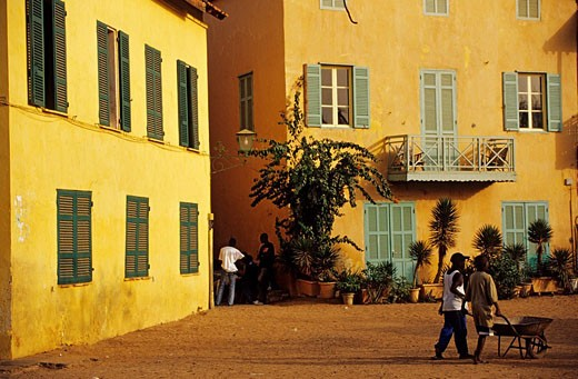 Senegal, Ile de Goree listed as World Heritage by UNESCO : Stock Photo