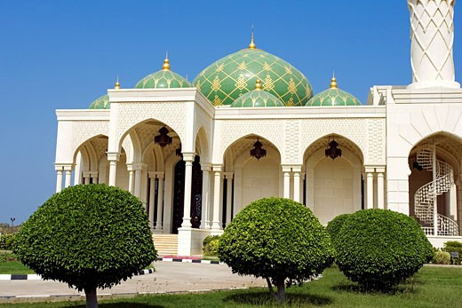 Oman Sultanate, Muscat, the green mosque : Stock Photo