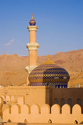 Oman Sultanate, Nizwa, sultan Qaboos Mosque : Stock Photo