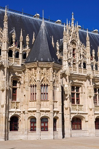 France, Seine_Maritime, Rouen, Courthouse, ex_Normandy Parliament House in flamboyant gothic style : Stock Photo