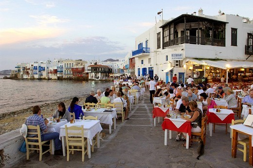 Greece, The Cyclades, Mykonos island, Chora village : Stock Photo