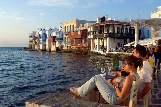 Greece, The Cyclades, Mykonos island, Chora village : Stock Photo