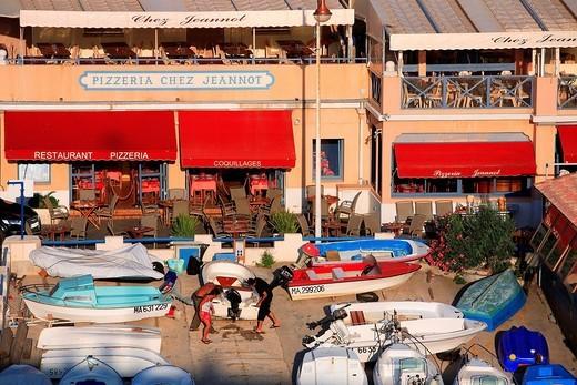 France, Bouches du Rhone, Marseille, Vallon des Auffes : Stock Photo