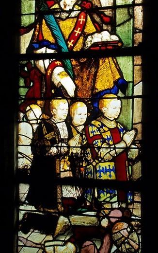 Stock Photo: 1792-82103 France, Val d´Oise 95, Ecouen, Saint Acceul Church, Revillon vitrier