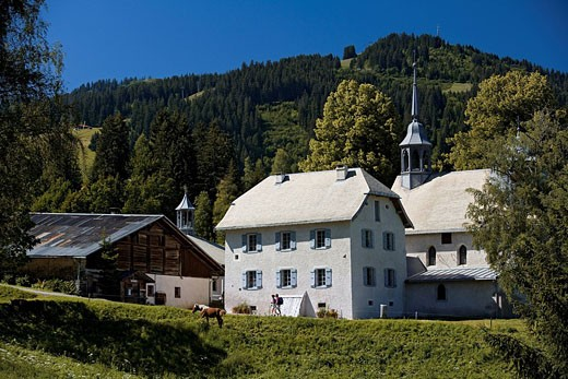 France, Haute Savoie, Megeve, Calvary Chapel, Property release Ok : Stock Photo