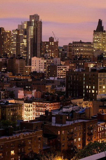 Stock Photo: 1792-84144 United States, New York City, Chelsea district by night