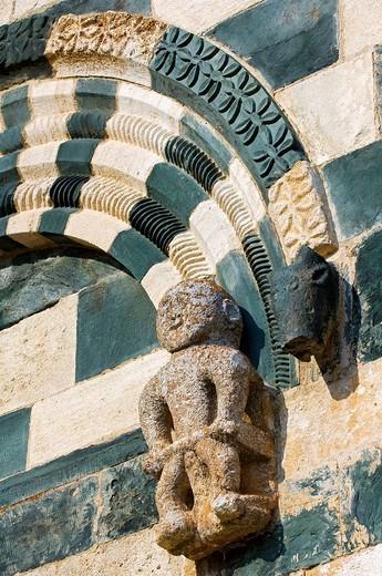 Stock Photo: 1792-84266 France, Haute Corse, Roman style San Michele de Murato church