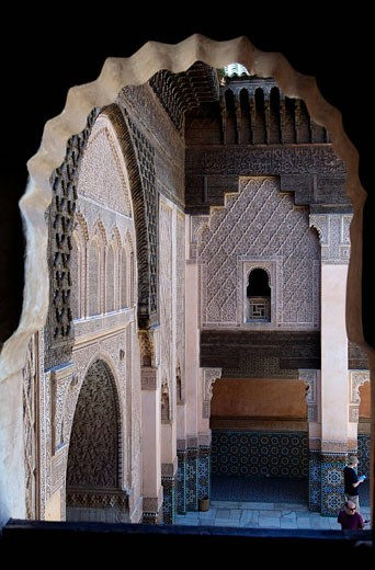 Stock Photo: 1792-84485 Morocco, Marrakesh, imperial city, medina listed as World Heritage by UNESCO, medersa Ben Youssef islamic school