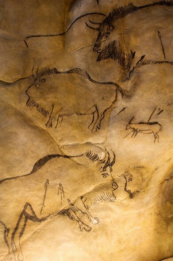 Stock Photo: 1792-85037 France, Ariege,Tarascon sur Ariege, Parc de l'Art Prehistorique The Prehistoric Art Park