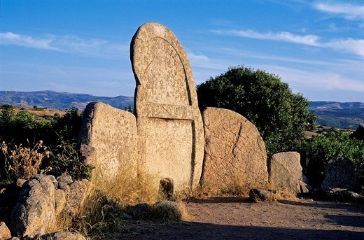 Italy, Sardinia, Sassari Province, Giants´ grave : Stock Photo