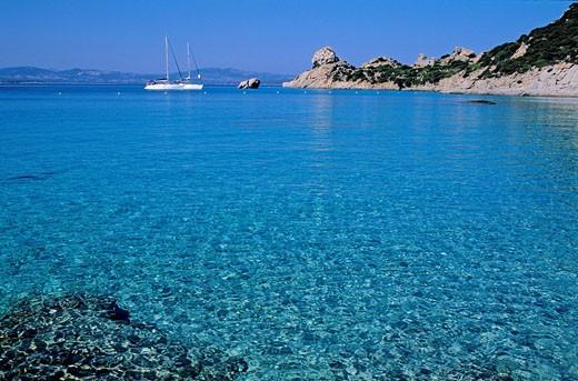 Italy, Sardinia, Olbia Tempio province, Maddalena archipelago, Spargi island, Cala Corsada : Stock Photo