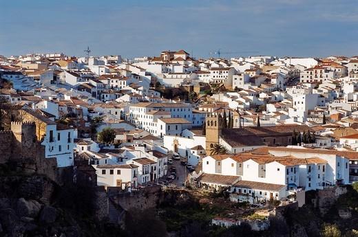 Spain, Andalusia, white village of Ronda : Stock Photo