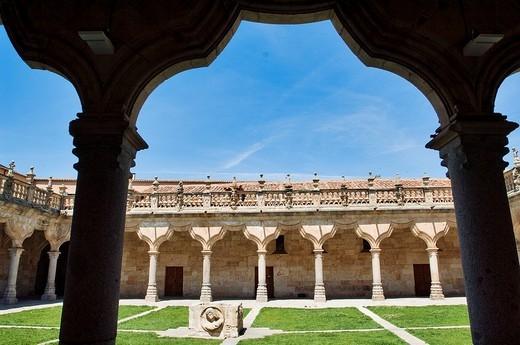Spain, Castile_Leon, Salamanca, listed as World Heritage by UNESCO, Escuelas Menores Patio or the Schools Patio : Stock Photo