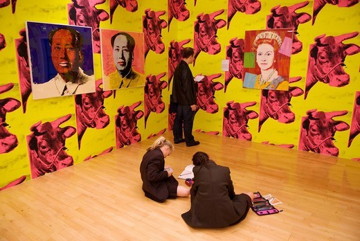 United Kingdom, Liverpool city, Albert Dock, the Tate Liverpool Gallery Museum, the Andy Warhol exhibition : Stock Photo