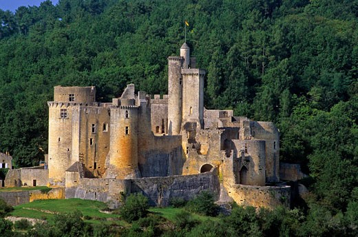 France, Lot, Bas Quercy, Bonaguil Castle 15th and 16th centuries : Stock Photo
