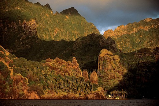 Stock Photo: 1792-87535 France, French Polynesia, Marquesas Islands, southern islands, Fatu Hiva Island, Hanavave, the Baie des Vierges the Virgins ´ Bay