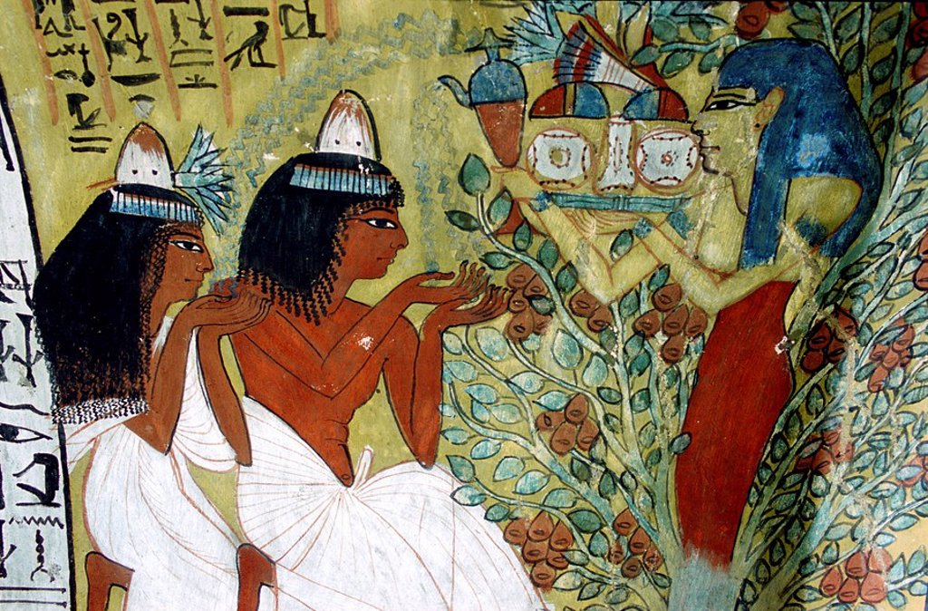 Stock Photo: 1792-87626 Egypt, Nile Valley, Thebes Necropolis, Valley of the Artists, Deir El_Medina, painting in Senedjem´s tomb