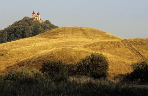 Slovakia, Banska Stiavnica town listed as World Heritage by UNESCO, Calvary Church : Stock Photo