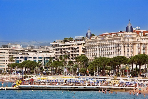 France, Alpes Maritimes, Cannes, Croisette, Intercontinental Carlton Cannes Hotel : Stock Photo