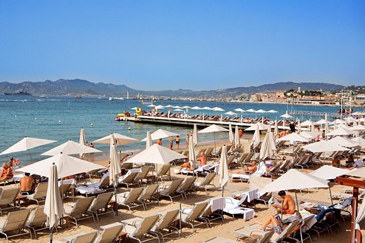 Stock Photo: 1792-88084 France, Alpes Maritimes, Cannes, Croisette, the beach